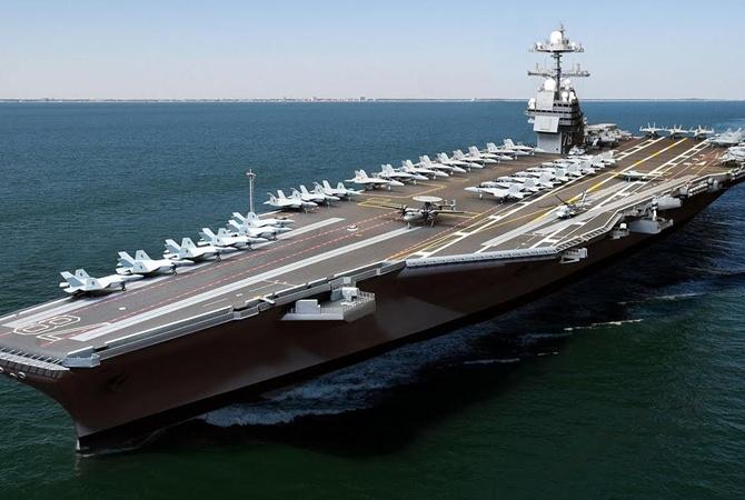 ВМС США приняли навооружение самый дорогой атомный авианосец вмире