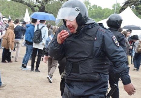 В столицеРФ иПетербурге задержали сотни участников оппозиционного митинга
