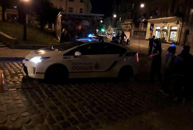 Машина милиции сбила женщину напереходе воЛьвове