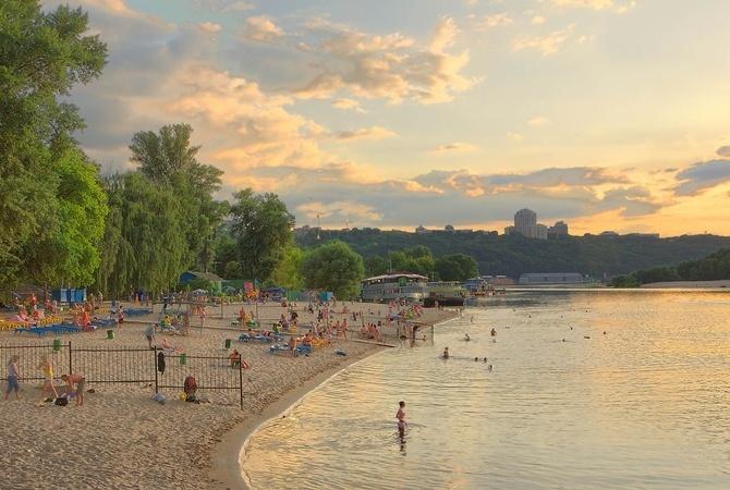ВКиеве неопасно купаться только на 2-х пляжах