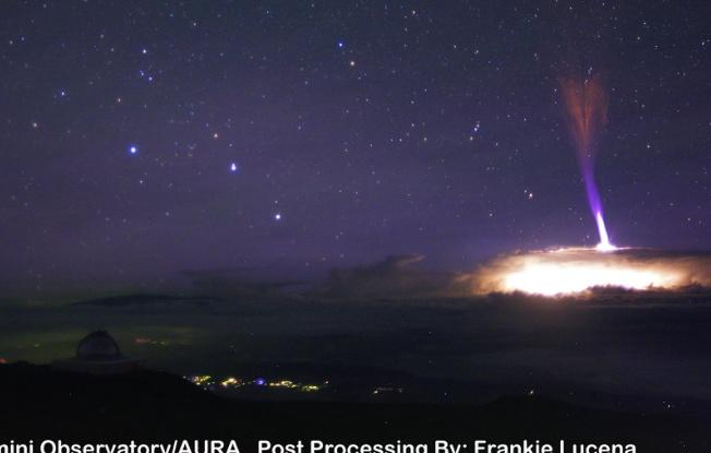 НаГавайях впервые сняли навидео редкую молнию