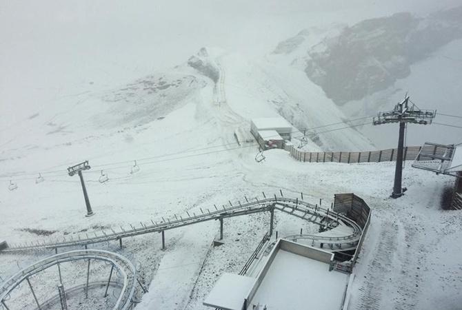 Лето 2017: вШвейцарии выпал снег