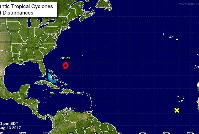 Тропический шторм «Герт» сформировался вАтлантическом океане