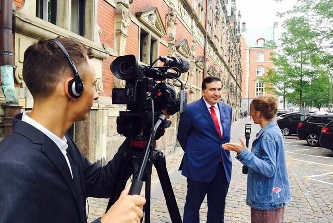 Саакашвили предположил, кем его объявят вгосударстве Украина  после приезда встрану