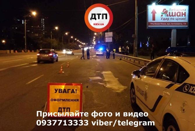 Врезультате дорожного происшествия вКиеве погибла женщина-пешеход