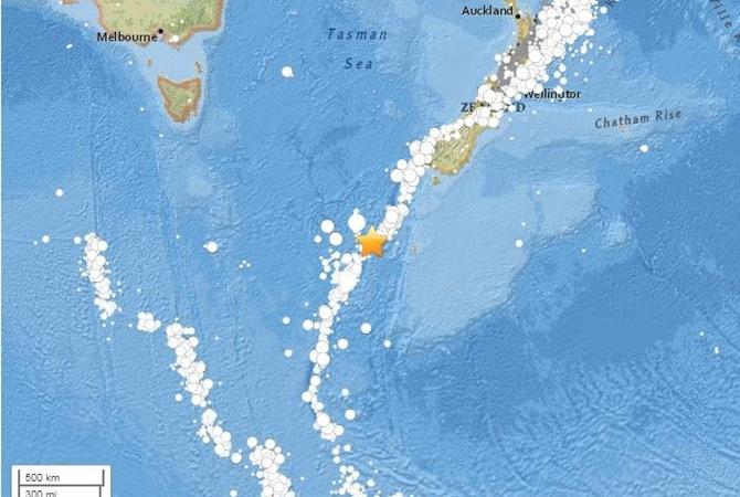 Землетрясение магнитудой 6,1 случилось уберегов новейшей Зеландии
