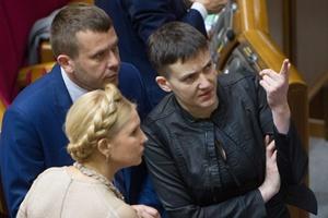 Юлия Тимошенко и Надежда Савченко. Фото: УНИАН