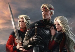 Эйгон I Таргариен с женами-сестрами.