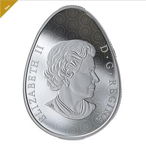 Реверс монеты-писанки. Фото: mint.ca