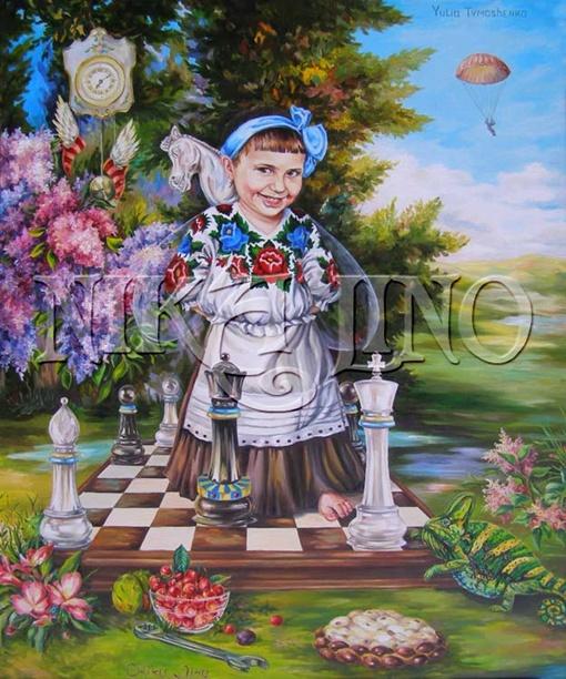 На портрете Тимошенко некоторые угадывают намек на то, что она находится в местах не столь отдаленных. Фото: личный архив Николины Бакуменко