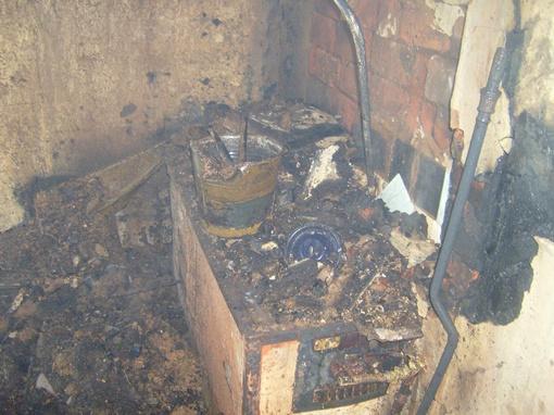Кухня выгорела. Фото: предоставлено пресс-службой ГУ Госслужбы ЧС в Харьковской области.