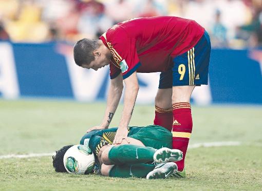 На Кубке конфедераций-2013 Испания забила десять безответных голов в ворота Таити. Торрес сделал
