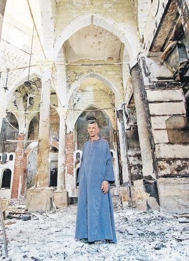 Церковь Эль Амир в Минье. Почти так же выглядят и другие коптские храмы после погромов исламистов. Фото: Александр КОЦ.