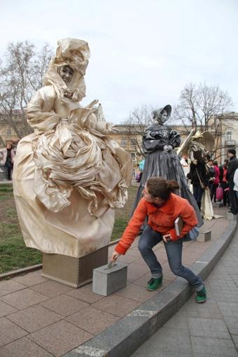 Одесситы смогут увидеть шоу живых скульптур/ Фото: архив