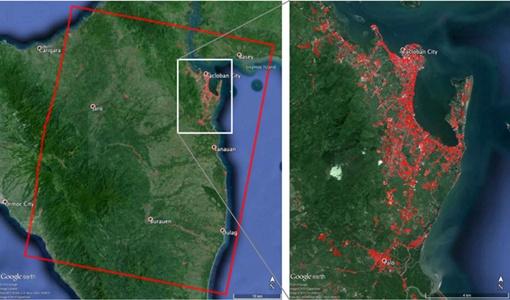 Разрушения охватывают площадь 43 на 53 километра. Фото: НАСА