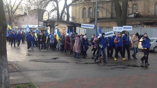 Молодые люди направляютя от Арсенальной к Европейской площади. Фото: Алексей Захаров