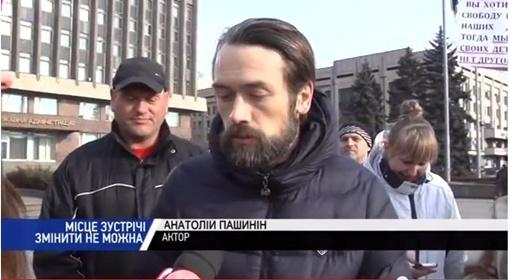 Так выглядел актер еще в воскресенье, 19 января, на запорожском