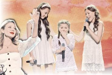 Самым трогательным моментом вечера стало выступление трио малышек, одна из которых расплакалась, исполняя хит Тины Кароль