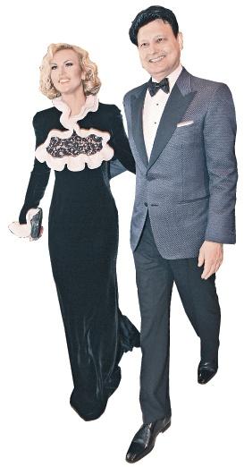 Похудевшая Камалия в платье от Alexander McQueen и ее супруг Захур признались, что воспитывать близняшек им помогают четыре няни. Фото: Олег ТРЕЩЕНКО.