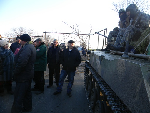 На улицах появились танки. фото : Сергей ШВЕДКО