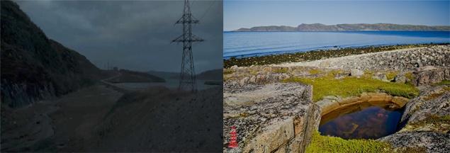 Жители Териберки не понимают, почему поселок показан только в мрачных тонах. Справа - Териберка летом, слева - в фильме.