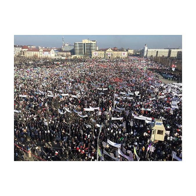 В центре столицы республики собралось около 800 тысяч человек. Фото: соцсети
