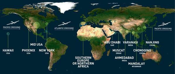 Маршрут кругосветного путешествия. Фото: Bild