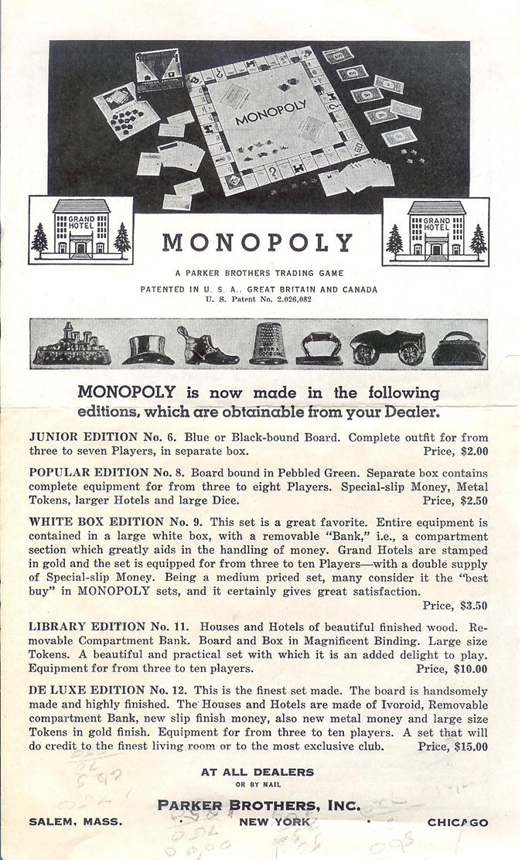 Инструкция к игре 1941 года. Фото: worldofmonopoly.com