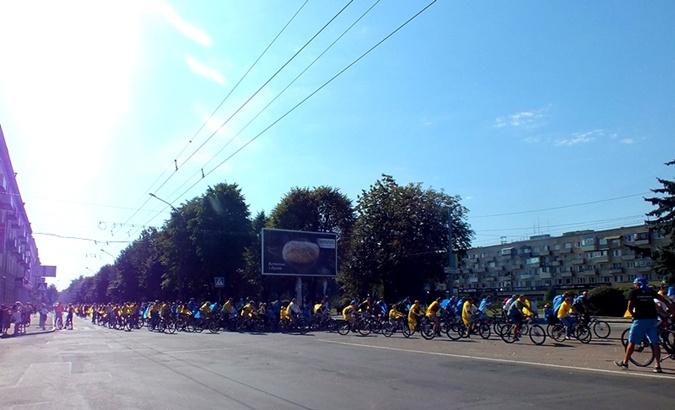 Сотни велосепидистов приехали поучаствовать в одном из самого значущего мероприятии страны. Фото: rada.cherkassy.ua
