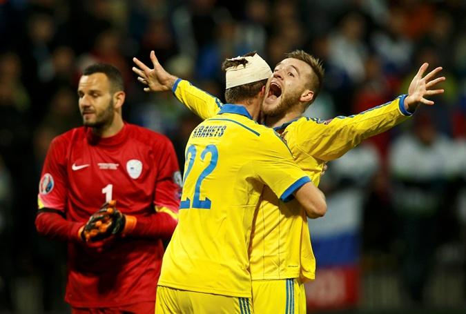 Единственный гол нашей команды на выезде забил Андрей Ярмоленко. Фото: Рейтер