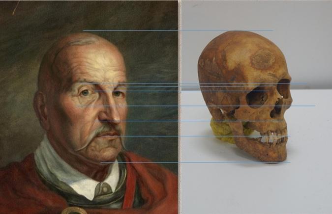 Портрет атамана восстановили  по форме черепа.