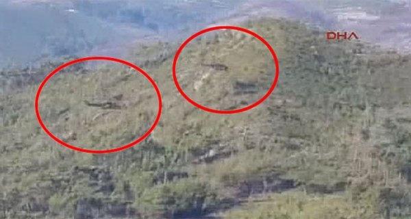 По информации зарубежных СМИ это российские вертолеты, ищущие пилотов.