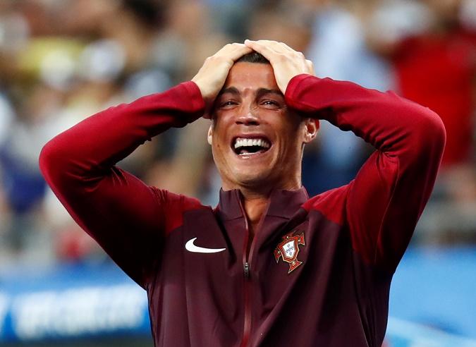 Слезы счастья Роналду после забитого гола. Фото: Рейтер