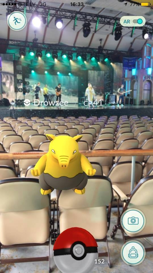 На репетиции Кароль покемонами кишел весь зал в юрмальском концерт-холле Дзинтари