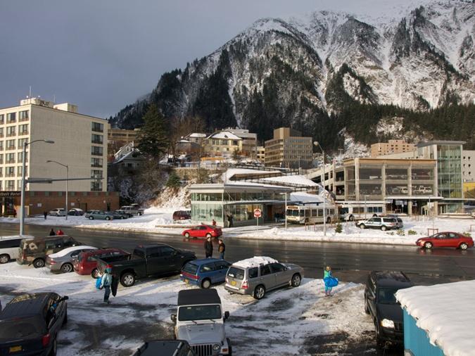Город Джуно на Аляске.