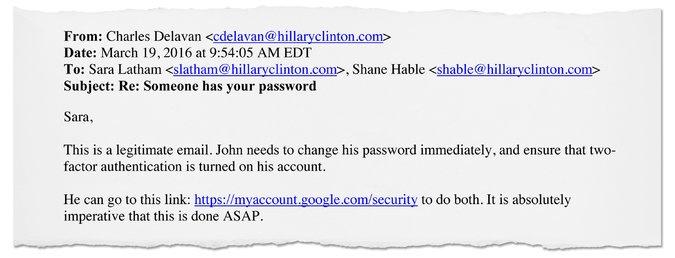 Помощник Клинтон совершил досадную ошибку, попросив сменить пароль.