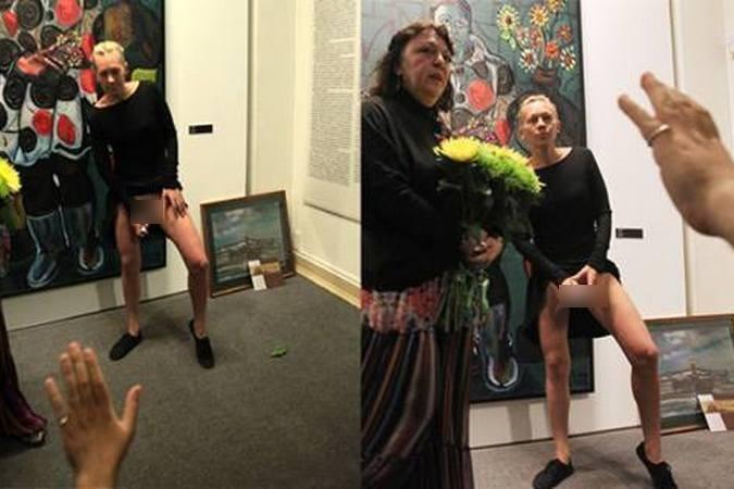 Оксана Шалыгина в 2014 году на выставке Зураба Церетели вытащила из влагалища книгу.
