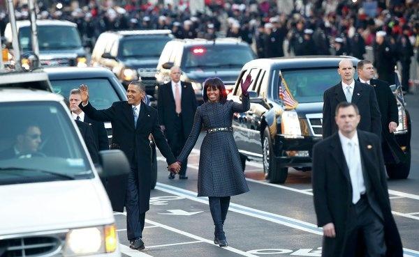 Мишель Обама в пальто от Thom Browne в 2013 году. Фото: REUTERS