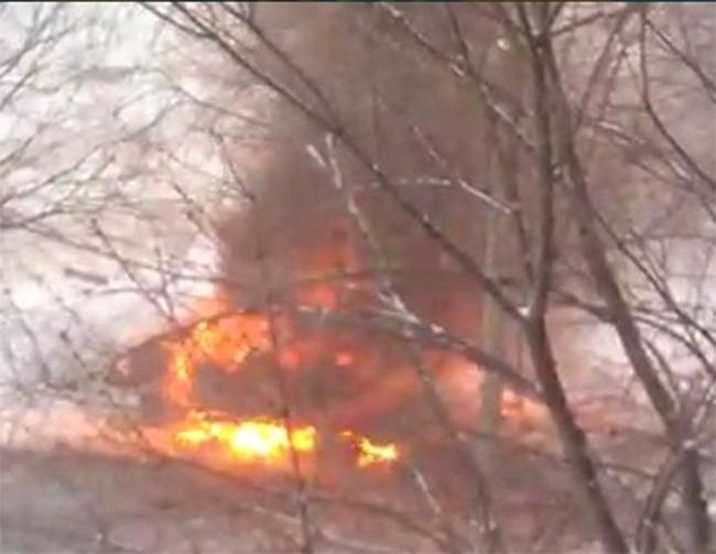 Взрыв в Луганске. Фото: Твиттер пользователь Иван Короткий