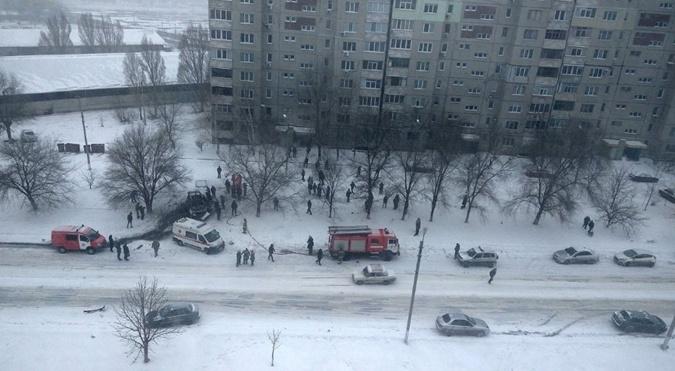 Взрыв прогремел утром 4 февраля. Фото: Твиттер пользователь Иван Короткий