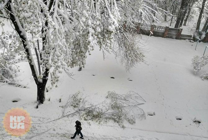 В Днепре выпало так много снега, как не выпадало этой зимой.