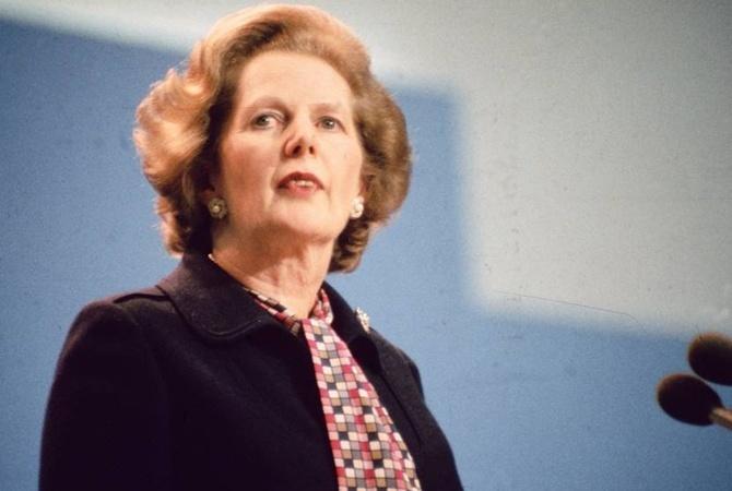 Маргарет Тэтчер на конференции консерваторов в 1984 году.