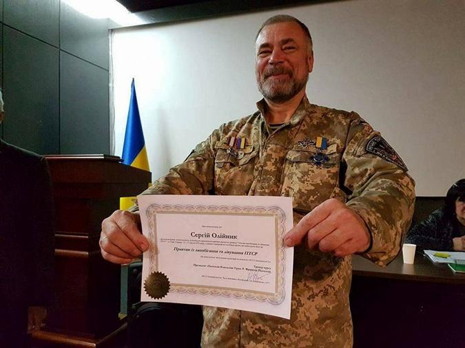Сергей Олейник основал профсоюз ветеранов АТО и волонтеров.