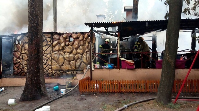 Ресторан почти сгорел.