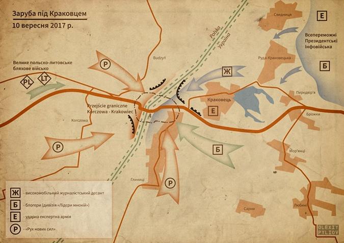 Карта о том, кто и где в находится около КПП