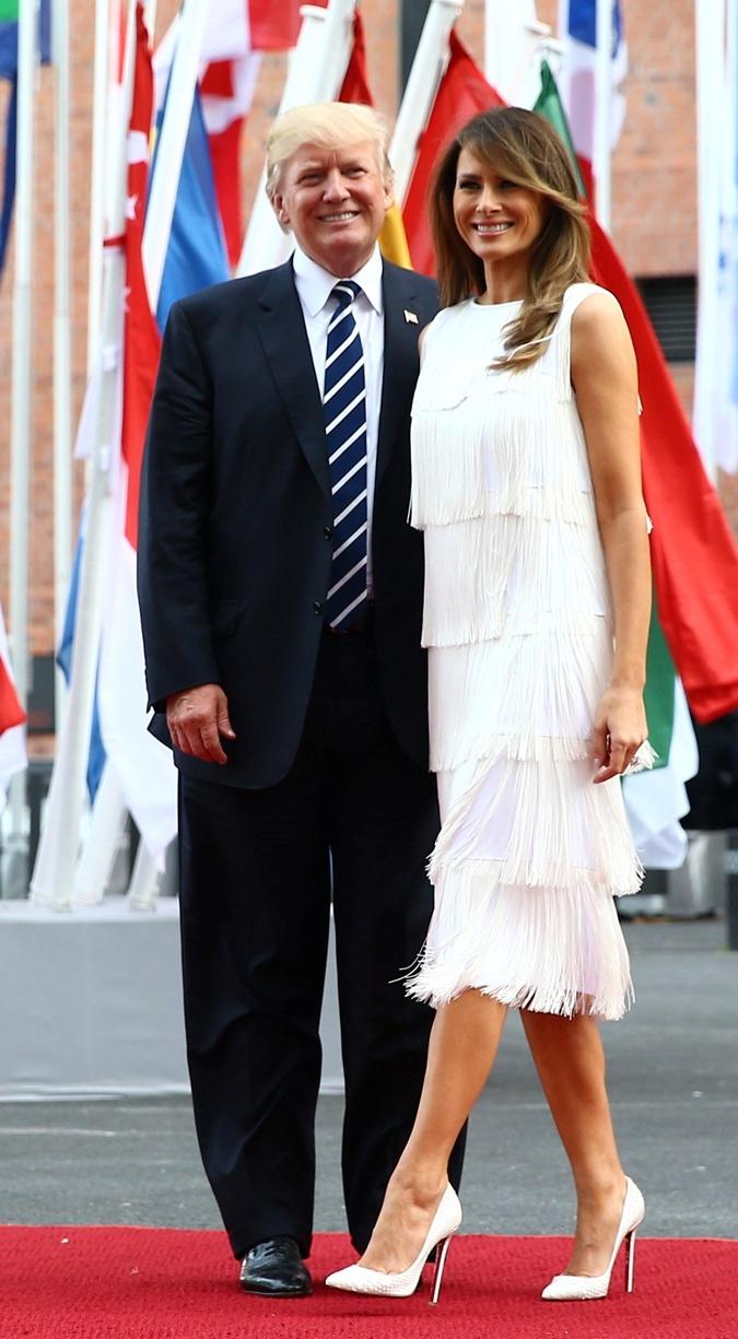 На саммит G-20 стилист подобрал для Мелании платье в стиле