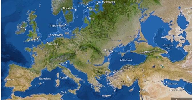 Худший сценарий: все льды на планете растаяли, юг Украины ушел под воду.