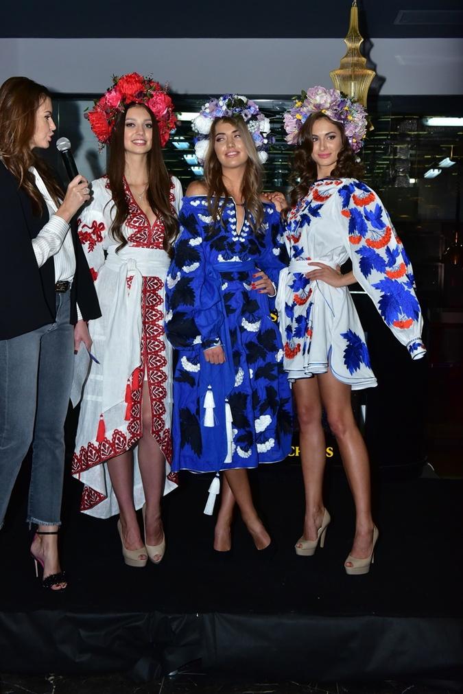 Украинские Мисс показали платья для международных конкурсов: тысяча бабочек, тайные руны и сияющие колосья фото 3