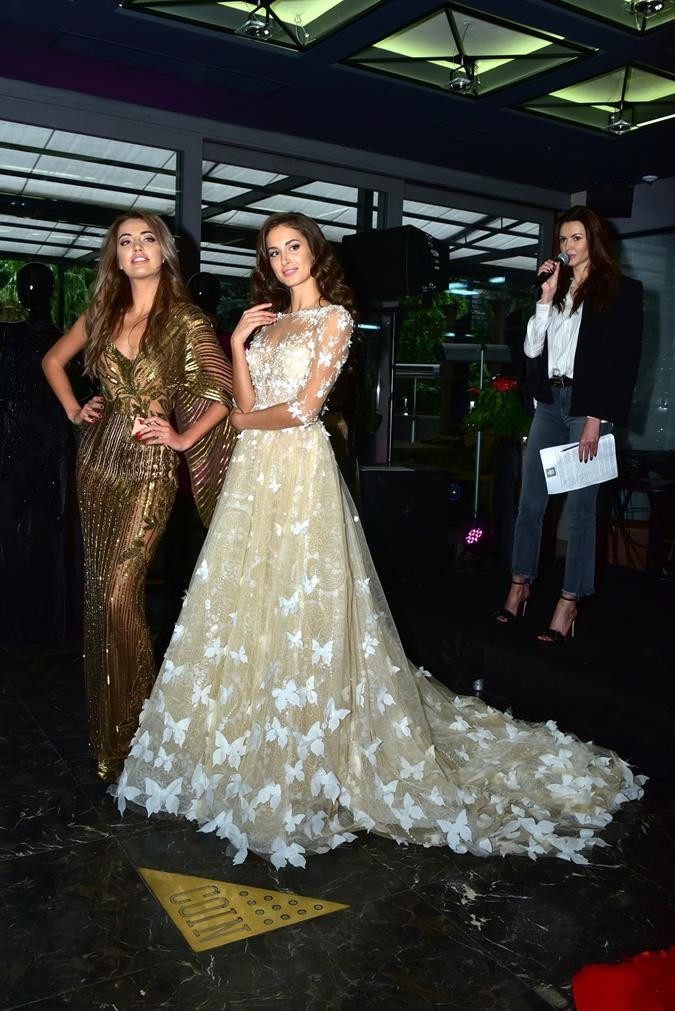 Украинские Мисс показали платья для международных конкурсов: тысяча бабочек, тайные руны и сияющие колосья фото 2