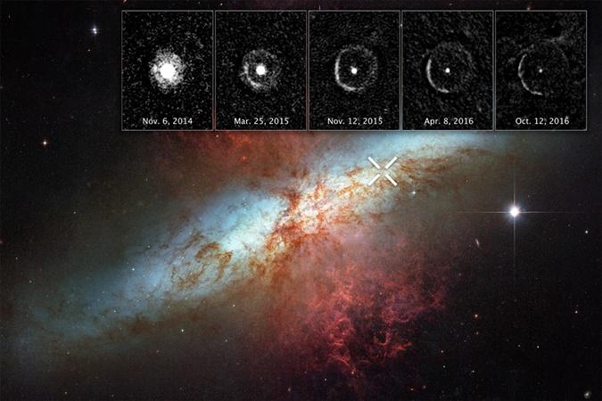 Астрономы NASA сняли взрыв самой ближней кСолнцу сверхновой звезды